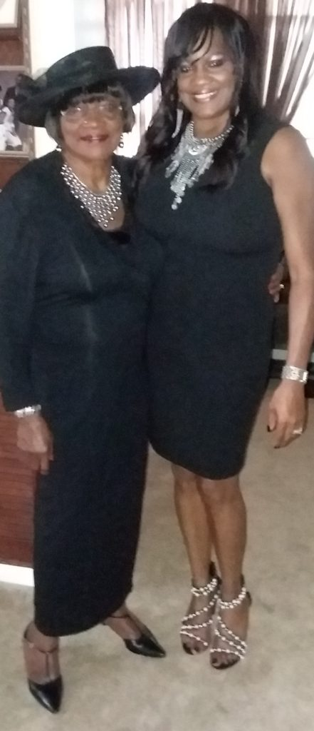 Teresa and her mother dressed to the nines